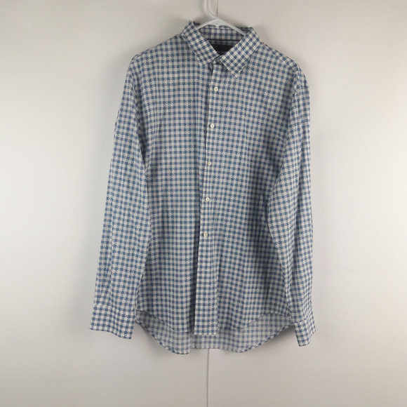 Perry Ellis Other - Perry Ellis City Fit Mens Checkered Dress Shirt XL